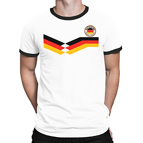 Deutschland Germany Mens T-Shirt World Cup 2018 Football Retro