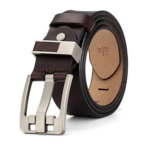 2019 Fashion Genuine Leather Male Pin Buckle Jeans Cowboy Mens Belt Luxury Designer