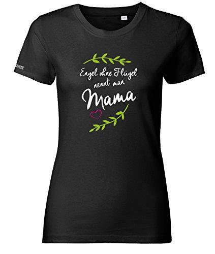 Jayess Engel ohne Flügel nennt Man Mama - Schwarz - Women T-Shirt by Gr. XXXL (Womens Schwarzer Engel-flügel-shirt)