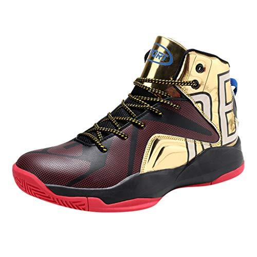 ren Sneaker Kontrastfarbe Persönlichkeit Sportschuhe Atmungsaktiv Leichtgewicht Hohe Schuhe Dämpfung Laufschuhe Gym Sportschuhe Trainers Schuhe ()