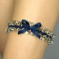 Giarrettiera impronta animale leopardo nozze matrimonio sposa biancheria intima regali de nozze blu