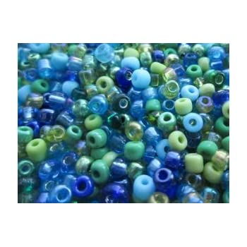 Deep Blue Rainbow approx 3mm size 8//0 50g glass seed beads