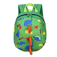 WLEYYY Backpack Backpack Baby Boys and Girls Kids Dinosaur Pattern Cartoon Style Nylon Backpack Unisex Small,C,L