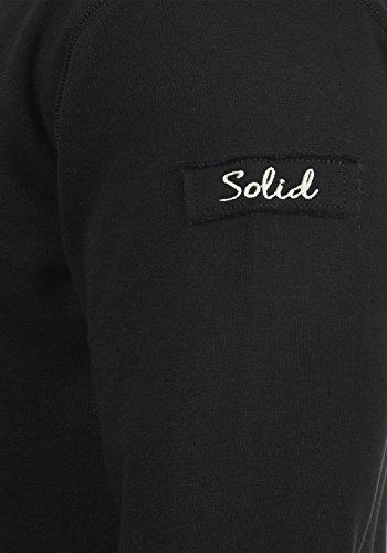 !Solid Trip-Zip Pile Herren Sweatjacke Kapuzen-Jacke Zip-Hoodie mit Teddy-Futter aus hochwertiger Baumwollmischung, Größe:S, Farbe:Black Pil (P9000) - 4