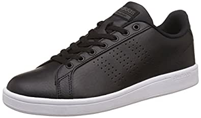adidas neo Men's Cloudfoam Advantage Clean Cblack and Dgsogr Leather Sneakers - 10 UK/India (44.67 EU)