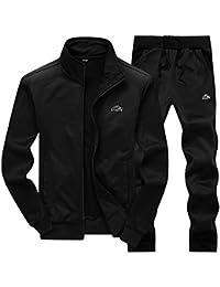 096a2cab3c9b donhobo Mens Tracksuit Set Contrast Cord Jogging Bottoms Hoodies Zip  Trousers Gym Sports Suit Sets Joggers