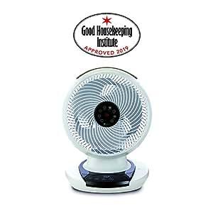 Meaco MeacoFan 1056 Air Circulator, Bedroom, Desk Fan, Low Noise, Energy efficient, Whole Room Cooling, White