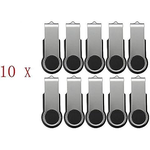 FEBNISCTE 100 pezzi 512MB(NON 512GB) Nero Girevole USB 2.0 Pen
