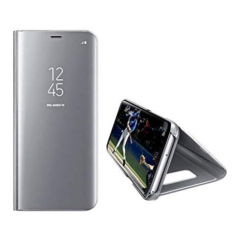 Sweau iPhone 5/5S/SE Coque Antichoc Miroir Portefeuille Bookstyle Étui Housse en Cuir Case, Miroir Transparent Housse étui de téléphone Ultra Mince Slim Fit Miroir Coque de Téléphone Etui