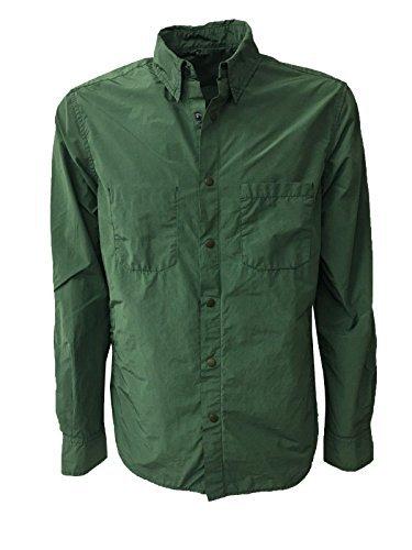 ASPESI giacca camicia uomo VERDE mod ALVARO I002 F973 80% poliestere 20% poliammide (L-50)