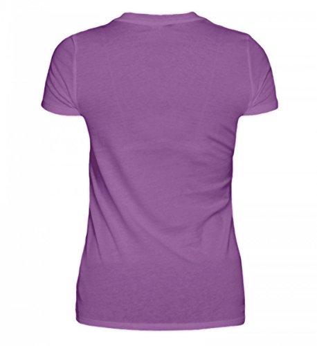 Shirtee Hochwertiges Damen Organic Schwester Nicht Leicht Prinzessin und Schwester sein Schaff Das Schon/Familie Purple