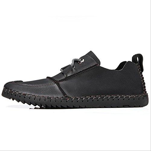 Hommes Casual Mens chaussures en cuir occasionnels chaussures de sport en plein air chaussures de randonnée chaussures de conduite de confort ( Color : Khaki-43 ) Khaki-44
