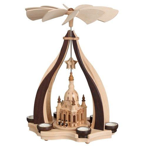 Teelicht Pyramide Frauenkirche Dresden 47cm - Handarbeit aus dem Erzgebirge ! z0410
