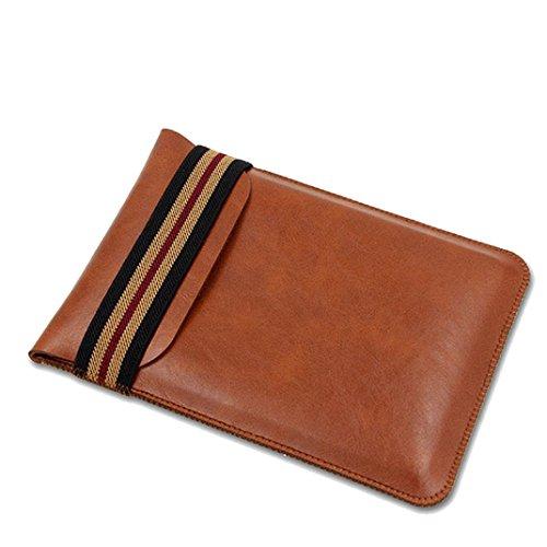 Malloom Amazon Kindle Oasis Funda , Lujo Delgada PU Cuero Protective Cover Case Bolso (marrón)