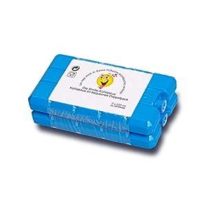 KRONWARE Premium Smiley Kühlakkus – 2er Set [2 x 200ml] Kühlakkus für Kühltasche – Kühlbox Kühlelemente flach 200ml Made in EU