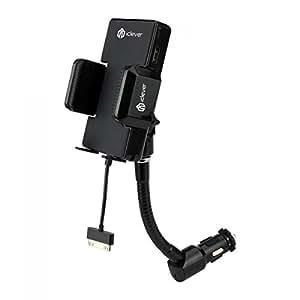 iClever® Tutto in Uno Trasmettitore FM con Caricatore per Auto per iPod Touch, iPhone (Cavo Lightning non incluso)