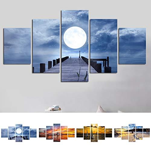 nowfield Sunset Glow Landschaft Rahmenlose Leinwand Malerei Home Wall Decor Poster 4# ()