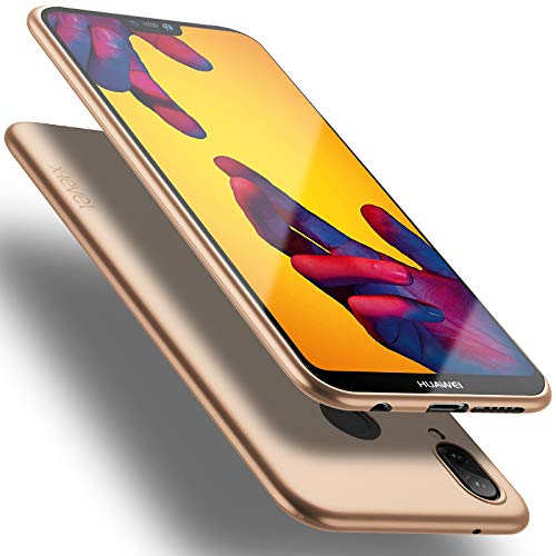 X-level Huawei P20 Lite Hülle, [Guadian Serie] Soft Flex Silikon Premium TPU Echtes Telefongefühl Handyhülle Schutzhülle für Huawei P20 Lite Case Cover [Gold]