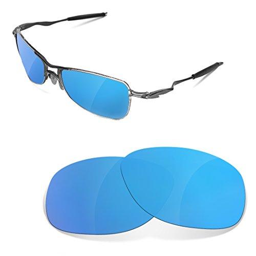 sunglasses restorer Kompatibel Ersatzgläser für Oakley Crosshair 1.0, Polarisierte Sapphire Green