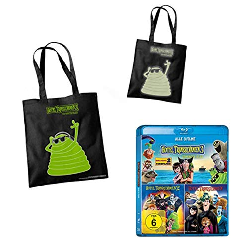 "Hotel Transsilvanien 3 - Ein Monster Urlaub - 1-3 Blu-ray Collection + ""Glow in the dark"" Tasche"