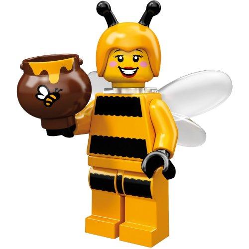 LEGO 71001 - Minifigur Mädchen im Bienen-Kostüm aus Sammelfiguren-Serie (Lego Kostüm Mädchen)