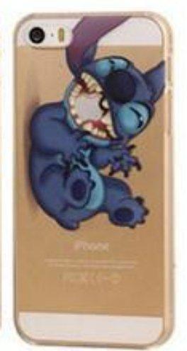 Disney-Custodia per Apple iPhone, colore: trasparente con SufsTM Accessory, Small Stitch, iPhone 5/5S Stitch 2