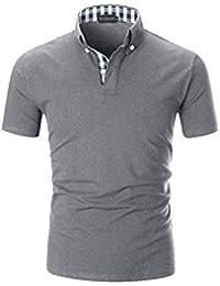 daf2c6f11a YCUEUST Polo de Manga Corta para Hombre Polos Premium Algodón Camisetas