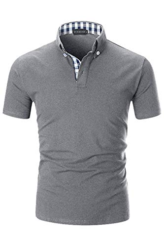 YCUEUST Lattice Collier Polo Homme en Coton Casual Basic...