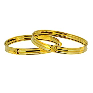 Sree Kumaran Thangamaligai 22k (916) Yellow Gold Bangle Set for Girls