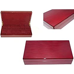 Watch box for 12. Lacquered wood cherry