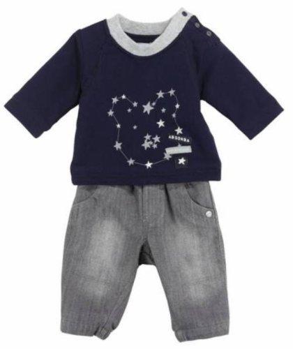 Absorba Baby–Set T-Shirt Hose Marineblau und Grau 29x 29x cm (Hose Absorba Set)