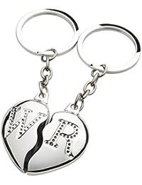 Brubaker Broken Heart Porte-clés séparables et personnalisables en forme de cœur