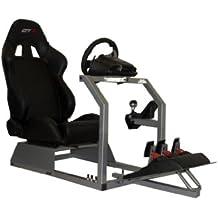 GTR Simulator GTA - Simulador de conducción, con asiento de carreras auténtico, cabina de mando y soporte para cambio de marchas