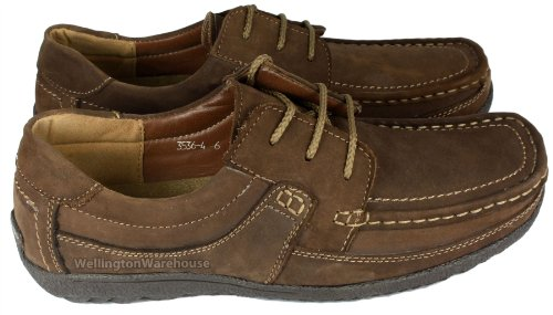 Monaco pour homme Marron ou Brun Clair en Cuir Souple Léger Casual Chaussures à lacets Marron - Marron