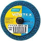 Norton bear-tex Vortex speed-lok Nonwoven abrasive Wheel, 5,1cm diametro x 1/10,2cm larghezza, grana 7AM (confezione da 60)