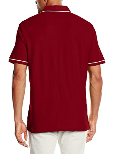 Original Penguin Herren T-Shirt The Earl Polo Granatrot