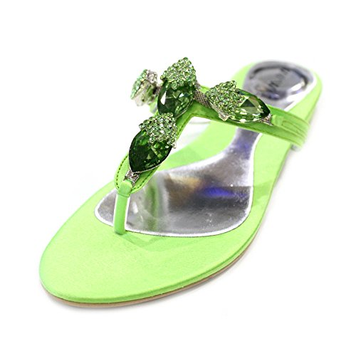 Wear & Walk UK , Damen Sandalen Parrot Green