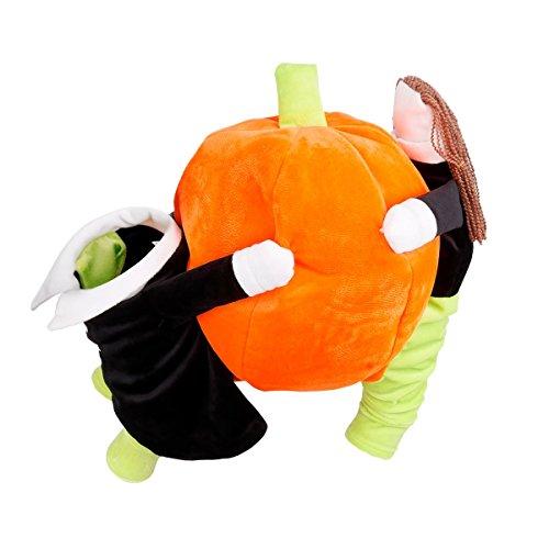 Imagen de freebily disfraz de halloween para perro mascota gato ropa traje de fiesta para cachorro carnaval naranja y negro s