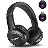 Bluetooth Kopfhörer, ELEGIANT Wireless Headset On Ear Stereo HIFI Headphone drahtloser kabelloser Kopfhörer Over Ear Headset Sport Bass mit LCD Bildschirm und Freisprechfunktion + FM Radio/ TF SD Karte Slot + 3,5mm Audio AUX Kompatibel mit Handys iPhone X 8 7 6 6plus iPad Samsung Galaxy S8 S7 HTC LG Laptops Tablets Smartphone und andere Bluetooth Geräte