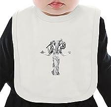 Ganesha/no_bg Organic Bib W/ Ties  100% Organic Ring-Spun Combed Cotton  Soft & Comfortable Bib Made W/ Eco-Friendly Materials  Unique Baby Clothing By Bang Bangin