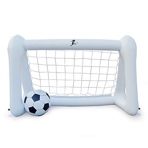 Warooma Riesiges aufblasbares Fußballnetz, tragbar, aufblasbar, PVC, Fußball, Tür, Übungsspiele, Kits mit Ball für Kinder -