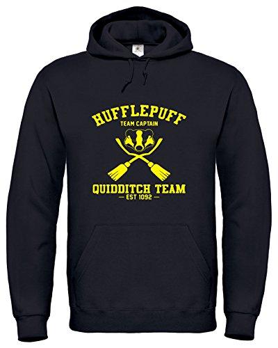 y Potter Hogwarts Hufflepuff Quidditch Kapuzenpullover Harry Potter Hoodie (XXL, Schwarz) (Hufflepuff Quidditch Kostüm)