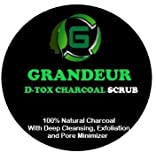 #2: Grandeur D-tox Activated Charcoal Face Scrub 250g with Deep Cleansing, Exfoliation & Pore Minimizer-250Gm