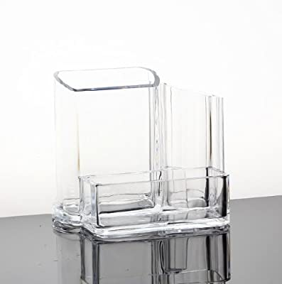 HQdeal Clear Acrylic Cosmetic Makeup Holder Organiser Storage Box Dressing Table Organiser produced by HQdeal - quick delivery from UK.