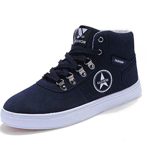 Autunno e inverno scarpe sportive top-top camoscio scarpe uomo modelli blue