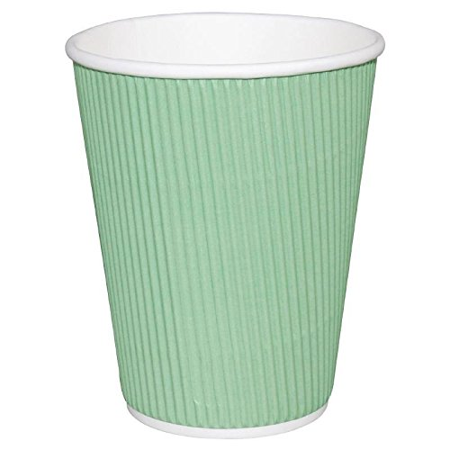 500 x Fiesta Hot Cup Ripple Wand Aqua Klauenhammer, Einweg Take Away Travel