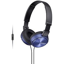 Sony MDR-ZX310APL Casque Pliable avec Microphone - Bleu