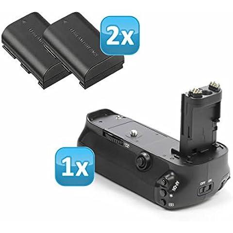 Impulsfoto - Empuñadura de batería para Canon EOS 5D Mark III (similar a BG-E11, incluye 2 baterías 2 LP-E6)