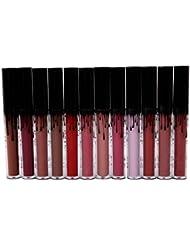 VWH Maquillage Lip Gloss Mat Waterproof a Levres Liquide Beaute Brillant Rouge a Levres Set de12 Couleurs