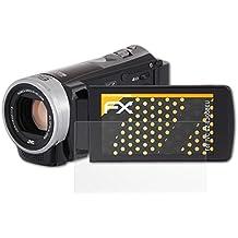 3 x atFoliX Película Protectora JVC GZ-E305BEU Lámina Protectora de Pantalla - FX-Antireflex anti-reflectante